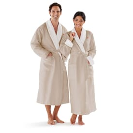 Microfiber Robe with Shawl Collar